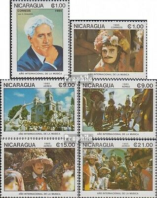 Nicaragua 2605-2610 unmounted mint / never hinged 1985 International Year the Mu