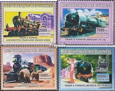 Guinea 4377-4380 unmounted mint / never hinged 2006 Transportation: rail