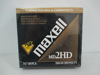 "Maxell 5.25"" Floppy Disks- New Sealed Box"