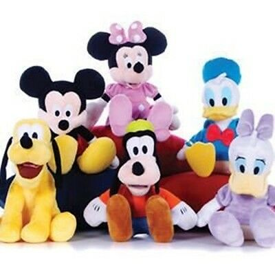 """1x Soft Toys Mickey Mouse Minnie Donald Duck Pluto Plush Cuddly 12"""" Doll Toy"""