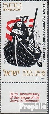 Israel 596 with Tab unmounted mint / never hinged 1973 Rescue danish Jews