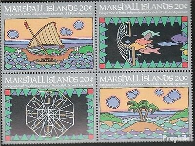 Marshall-Islands 1-4 block of four unmounted mint / never hinged 1984 Postal Ind
