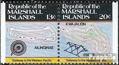 Marshall-Islands 9D/10D Couple unmounted mint / never hinged 1984 Inselkarten