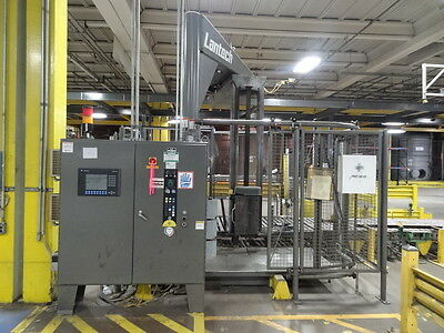 Lantech Pallet Straddle Stretch Wrapper Machine w/ 50' of Powered Conveyor