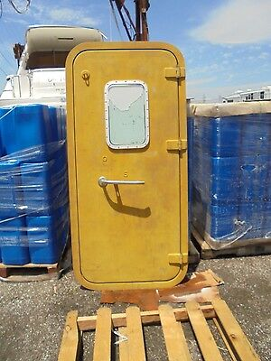 NEW ALUMINUM Ship Yacht Boat Marine Watertight Door Hatch With Port Lights Holes