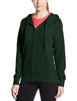 (TG. 50) Fruit of the Loom SS099M, Cappuccio Donna, Green (Bottle Green), (L1z)