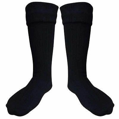 Scottish Black Kilt Hose Socks For Men