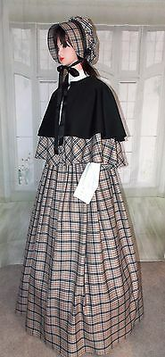 Ladies Victorian Civil War Outfit Dickens 3 part Gentry Costume Fancy Dress New