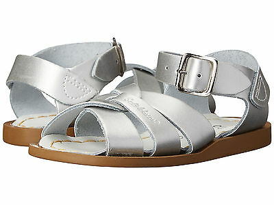 Toddler//Little Kid/'s Sun-San Silver Sandals Salt Water 8012-SILVER