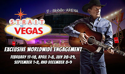 GEORGE STRAIT Vegas 2 FLOOR Tickets 12/09/2017 Cowboy Christmas