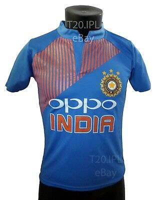 India Team T20 Jersey Cricket 2018 Indian shirt IPL ODI T20 OPPO World Cup