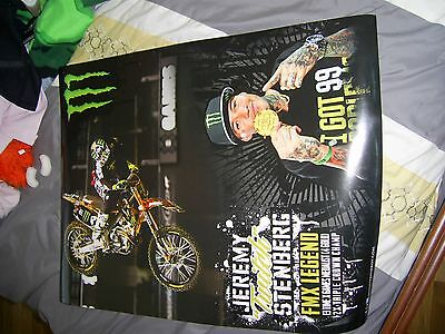 Lot Of 4 Monster Energy Drink Promo Posters 24 X 18 Huston Ashley