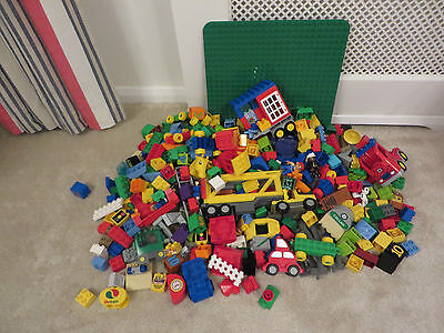 Huge job lot collection lego duplo with board over 5kg