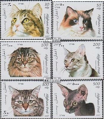Afghanistan 1726-1731 unmounted mint / never hinged 1997 Cats