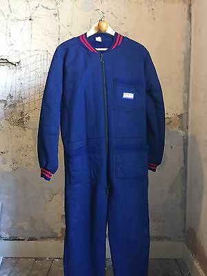 Vintage 1960's  1970's Driving Suit Overalls Pit Crew Size 38 40