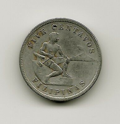 World Coins - Philippines 5 Centavos 1928 Coin KM#164 US Administration