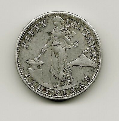World Coins - Philippines 50 Centavos 1945 Silver Coin KM#183 US Administration
