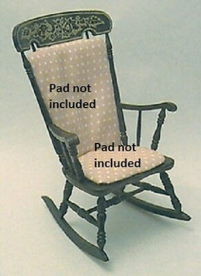 Dollhouse Miniature Arrowback Rocker Kit, Black-NO PAD #CB2403BK