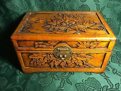 Vintage Chinese Camphorwood Carved Box