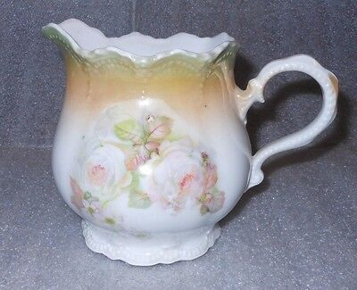 Vintage Ceramic Creamer / Small Pitcher with Pink Roses ~ Made in Germany