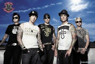 "O-6729 AVENGED SEVENFOLD THE POSTER 24""x36"" MUSIC ROCK CONCERT NEW SIDE SHEET"