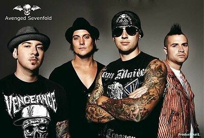 "O-7150 AVENGED SEVENFOLD THE POSTER 24""x36"" MUSIC ROCK CONCERT NEW SIDE SHEET"