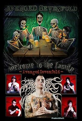 "O-6679 AVENGED SEVENFOLD THE POSTER 24""x36"" MUSIC ROCK CONCERT NEW SIDE SHEET"