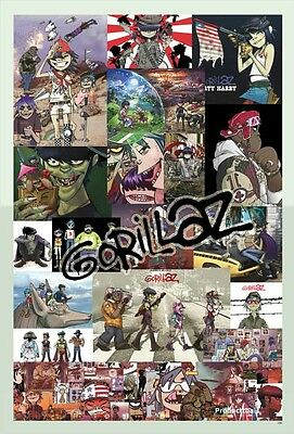 "O-7145 GORILLAZ THE POSTER 24""x36 INCH MUSIC ROCK CONCERT NEW 1 SIDE SHEET WALL"
