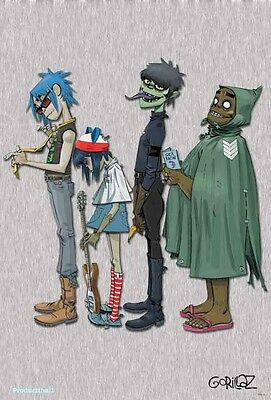 "6095-M GORILLAZ THE POSTER 24""x36 INCH MUSIC ROCK CONCERT NEW 1 SIDE SHEET WALL"