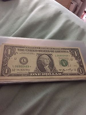 A Lot Of 10 $1.00 Federal Reserve Star Notes Circulated