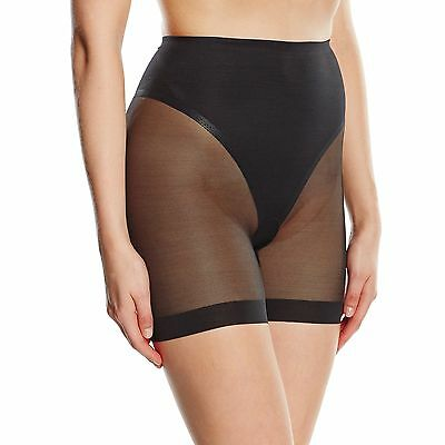 (TG. 42) Wacoal ULTIMATE SIDE SMOOTHER LONG LEG SHAPER-Panciera Donna    nero 42