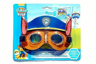 PAW PATROL CHASE NICKELODEON Super-Soft Watertight Seal Swim Goggles NWT $12