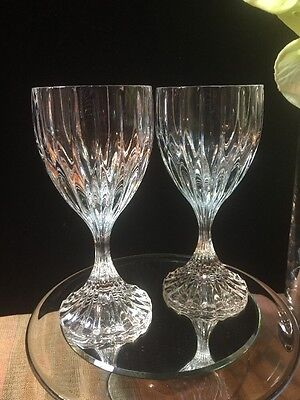 "Mikasa Park Lane Fine Lead Crystal Stem Wine Glass 6.2""T - Set of 2"