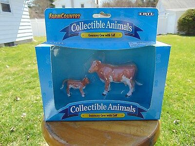 Ertl Farm Country Guernsey Cow with Calf NEW 1997 #4278