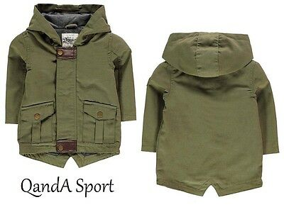Winter Parka Crafted Khaki Baby Infant Toddler Boys Warm Thick Jacket Coat