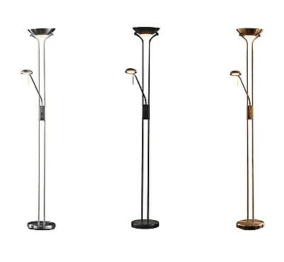 Argos Home Father and Child Uplighter 180cm Floor Lamp - Chrome/Brass/Black
