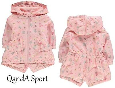 Crafted Pink Winter Rain Jacket Baby Infant Toddler Girls - FREE POSTAGE