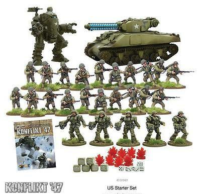 Warlord Games Bolt Action Konflikt 47 US Starter Army 28mm Scale Miniatures