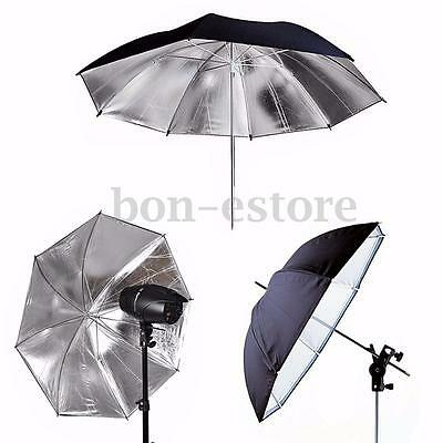 43'' 110CM Black Silver Reflective Umbrella For Photography Light Studio Softbox