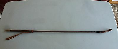 """MacTack riding crop whip brown leather with loop 25"""" long"""