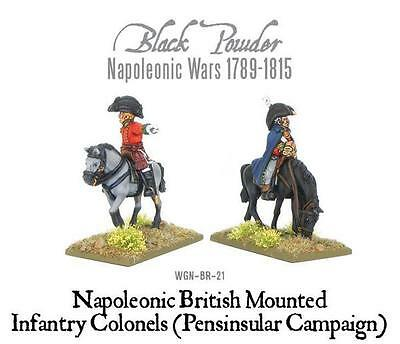 Warlord Games Napoleonic Mounted British Colonels Peninsular War 28mm Scale