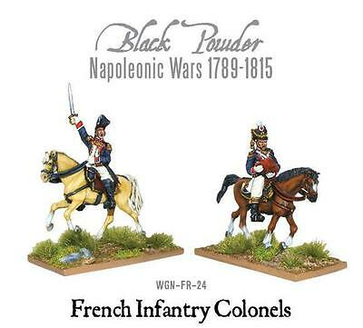 Warlord Games Napoleonic Mounted French Infantry Colonels 28mm Scale