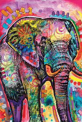 (LAMINATED) WATERCOLOR ELEPHANT POSTER (61x91cm) DEAN RUSSO PICTURE PRINT NEW A