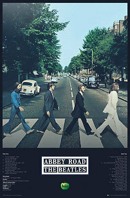 THE BEATLES ABBEY ROAD POSTER (61x91cm) TRACK LIST PICTURE PRINT NEW