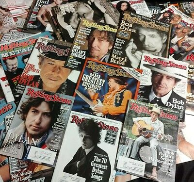 The INCREDIBLE BOB DYLAN Collection OF Rolling Stone MAGAZINES 8+ MINT CONDIT .