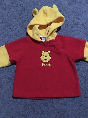Baby Boys Winnie The Pooh Long Sleeve Hooded Jumper Size 0 Euc