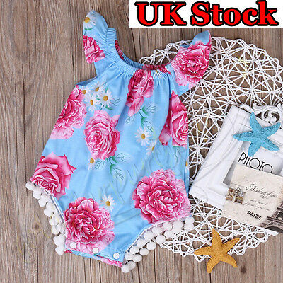 Summer Newborn Infant Baby Girl Floral Romper Bodysuit Jumpsuit Outfits Clothes