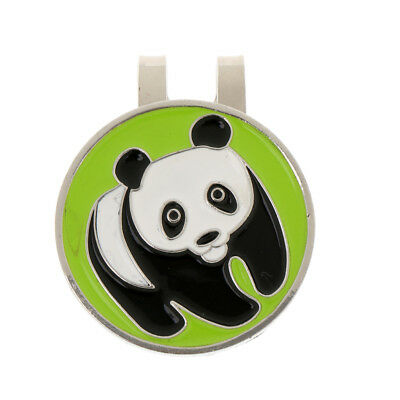 Portable Metal Panda Golf Ball Marker Magnetic Markers with Hat Clip Gift