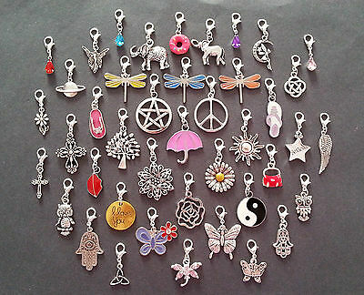 Clip On Dangle Charms for Memory Locket / Bracelet / Keyring *Buy 2 Get 1 Free*