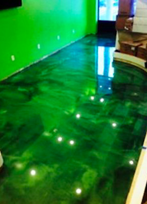 Low Viscosity Ultra Clear Epoxy Resin: 1Kg Kit + Dark Green Metallic Pigments